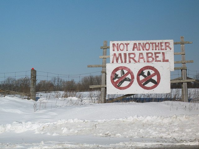 Pickering area protest sign (Flickr image courtesy of jbcurio)