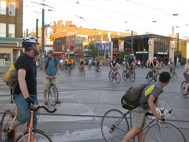 Critical Mass in Toronto (Flickr photo by CG Cunningham)