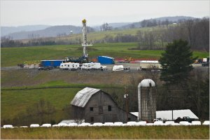 Fracking well in USA.
