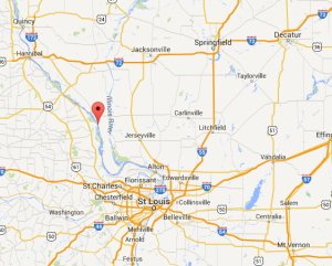 Location of Hamburg, Illinois. (Google Maps)