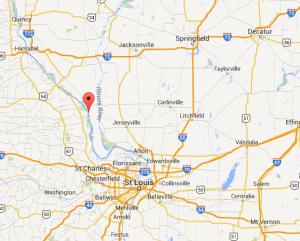 Location of Hamburg, Illinois. (Google Maps)